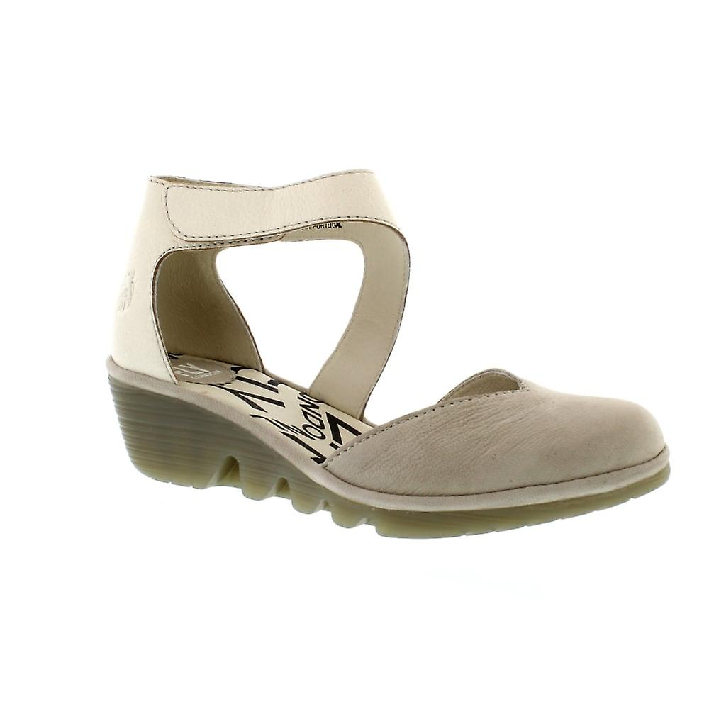 Fly London Pats - Cloud/Off White Cupido/Mousse (Leather) Womens Sandals