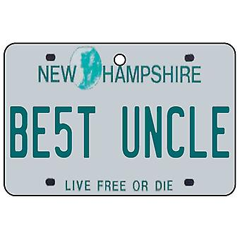 New Hampshire - Best Uncle License Plate Car Air Freshener