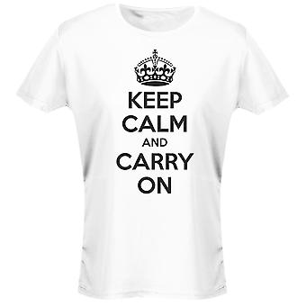 Keep Calm And Carry On Womens T-Shirt 8 Colours (8-20) by swagwear