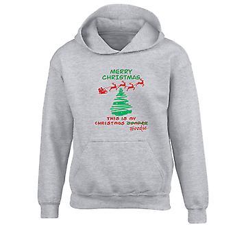 Christmas Jumper Hoodie Xmas Kids Hoodie 10 Colours (S-XL) by swagwear