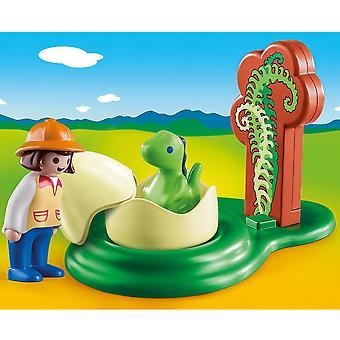 Playmobil 1.2.3 pige med Dino æg