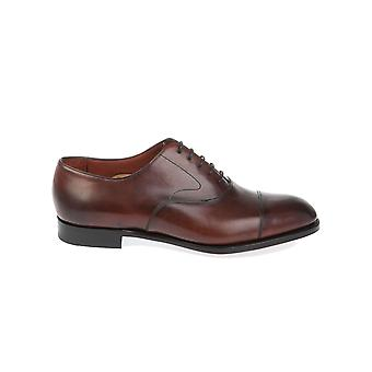 Edward green men's CHELSEABURGUNDYANTIQUE brown leather lace-up shoes
