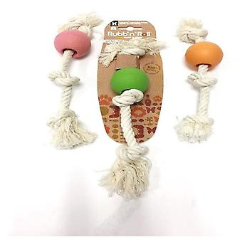 Martin Sellier Rubb'N'Rope Pelota con Cuerda (Dogs , Toys & Sport , Eco Products)