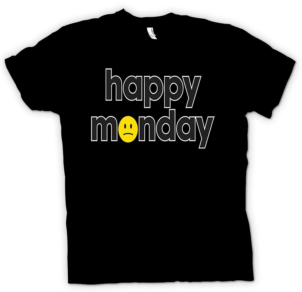 T-shirt Femmes - Happy Monday - Smiley - Quote