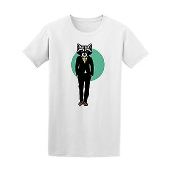 Fashion Raccoon Hipster Tee Men's -Image by Shutterstock
