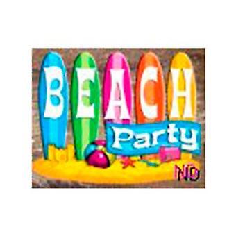 Tema de verano de playa y el paquete de decoración - grande