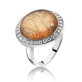 Orphelia Silver 925 Ring Glass Rose Gold Sheet  Zirconium   ZR-3901/1