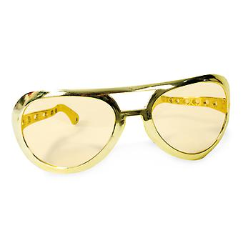 Giant glasses, gold hoax article Elvis accessory