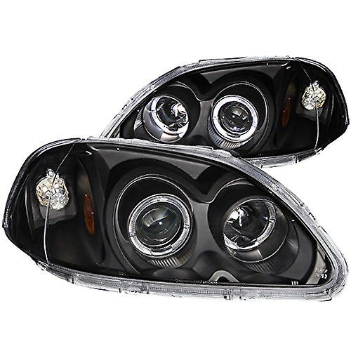Anzo USA 121068 Honda Civic Projector with Halo noir Headlight Assembly - (Sold in Pairs)