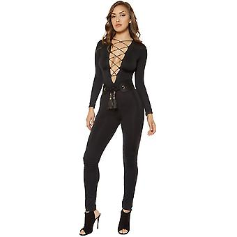 Roma RM-3401 Strappy Lace-up Jumpsuit