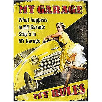 My Garage My Rules Small Metal Sign 200Mm X 150Mm