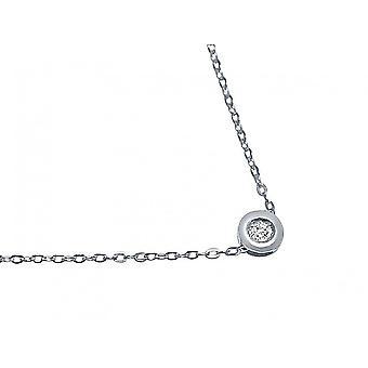 Gemshine halskjede anheng 0,05 karat diamant 925 Sterling sølv 42 cm