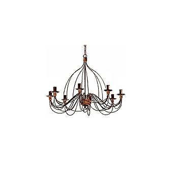 Ideal Lux Corte 8 lámpara colgante luz Ruggine