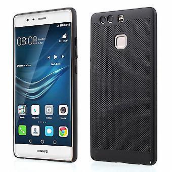 Handy Hülle für Huawei P9 Schutzhülle Case Tasche Cover Etui Schwarz