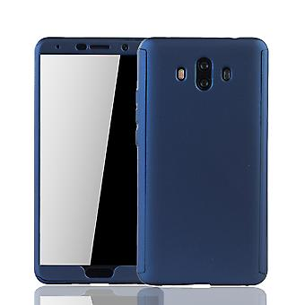 Huawei mate 10 mobile case protection-case full cover tank protection glass blue