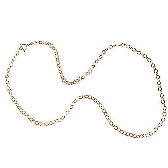 Ladies - necklace - gold - plated hammered - 90 cm