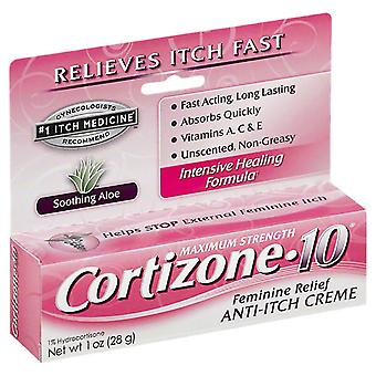 Cortizone 10 maximum strength feminine itch, 1 oz