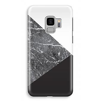 Samsung Galaxy S9 impressão caso completo (brilhante) - combinação de mármore