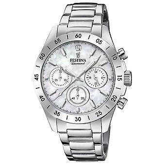 Festina Womens Boyfriend Chronograph Stainless Steel Bracelet F20397/1 Watch