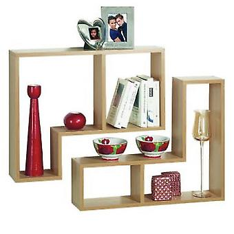 Twin - Wall Display / Storage Floating Shelves - Set Of Two - Oak