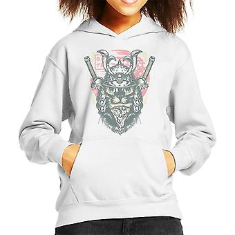 Samurai Pizza Hat Kid's Hooded Sweatshirt