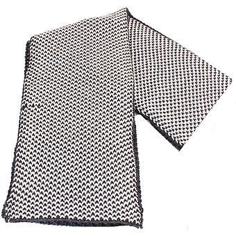 Bassin and Brown Lyons Two Chunky Birdseye Wool Scarf - Black/White