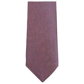 Knightsbridge Neckwear Small Pattern Tie - Pink/Black