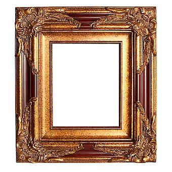Inner dimensions 30 x 40 cm or 12 x 16 inches, photo frame in gold