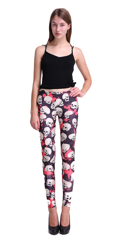 Waooh - Fashion - leggings skull motif 'Crana' and Red