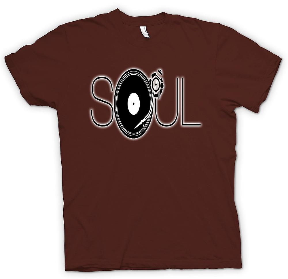 Mens T-shirt - Soul - Retro Music DJ