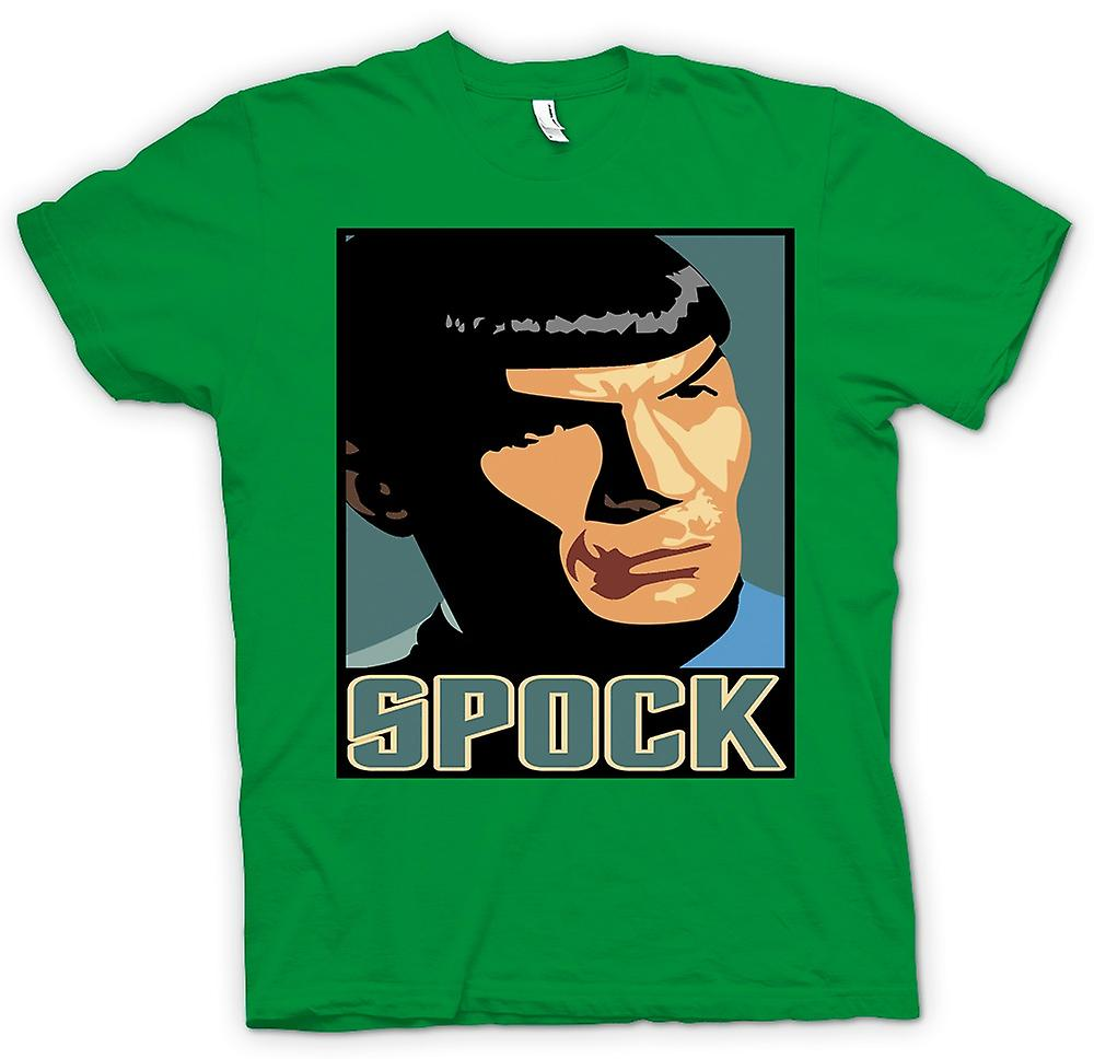 Mens t-skjorte-Star Trek - Pop Art - Spock