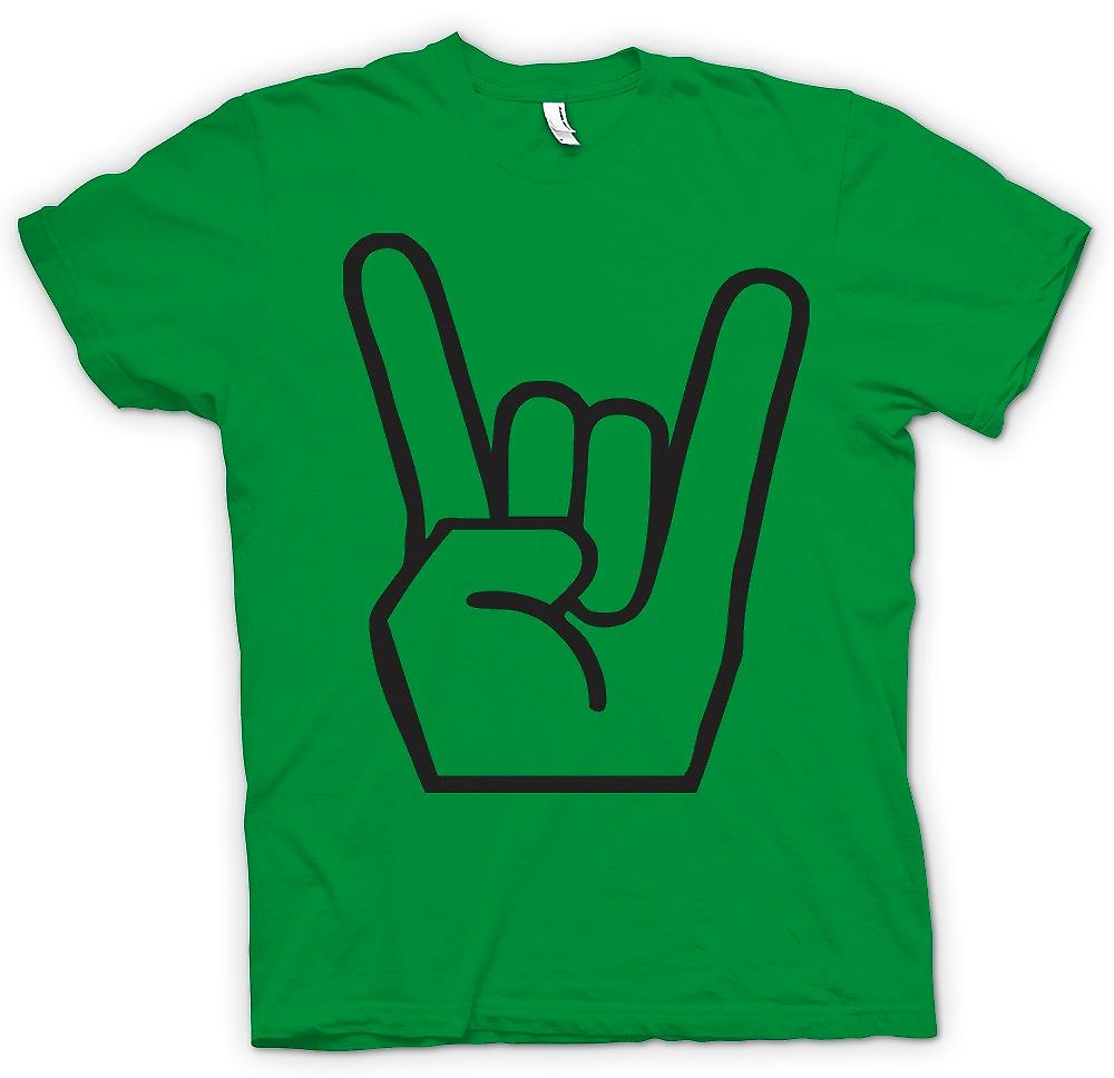 Mens T-shirt - Metal Finger Sign