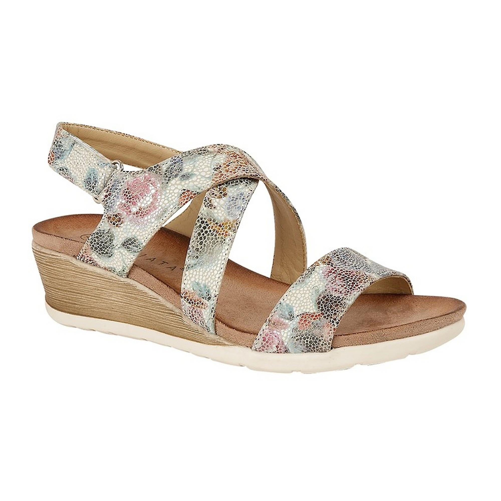 Cipriata Womens/Ladies Adia Crossover Strap Wedge Sandals