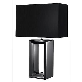 Searchlight 1610BK Large Black Mirror Table Lamp With Shade