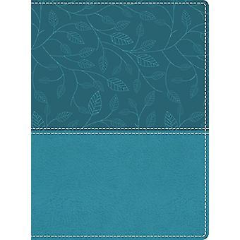 NKJV - vackra ord Bibeln - stora Print - läderimitation - blå
