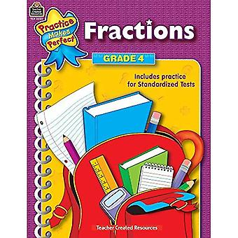 Practice Makes Perfect: Fractions Grades 3 & 4