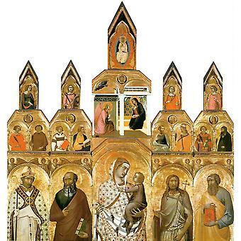 Polyptych, Pietro Lorenzetti, 50x47cm