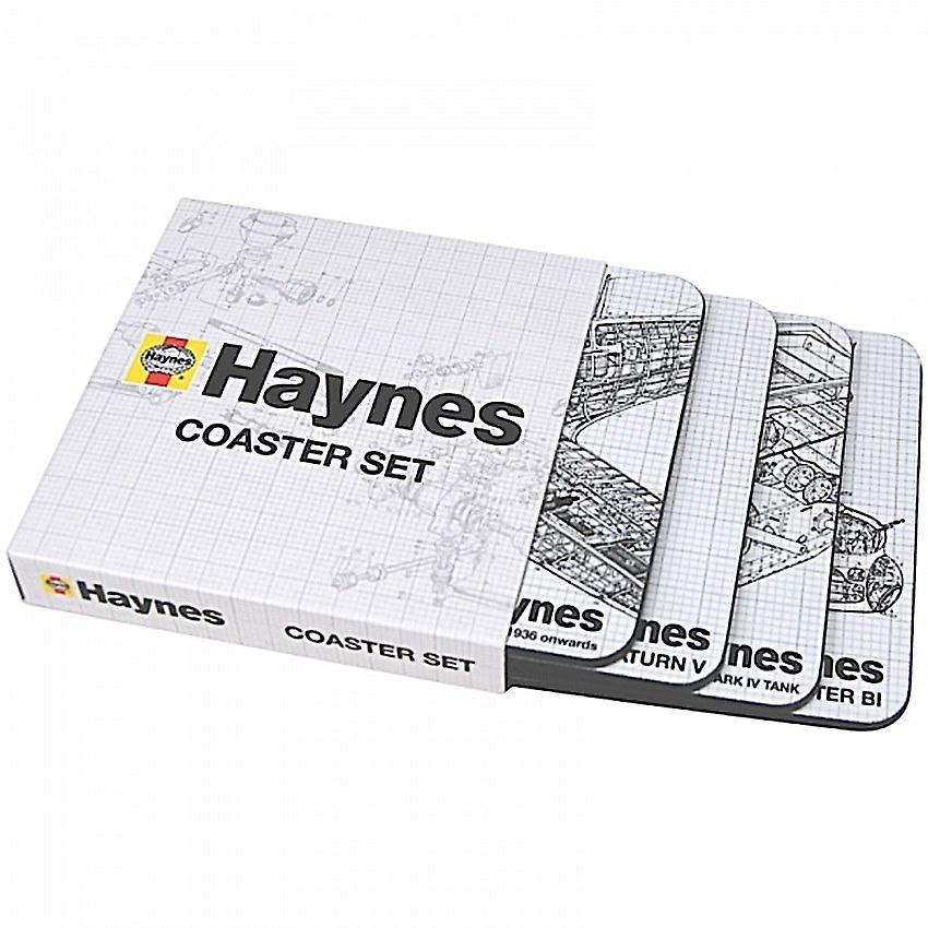 Haynes Cutaway Diagrams set of 4 cork backed drinks coasters   (hb)