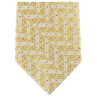 Knightsbridge Neckwear Zig Zag Skinny Polyester Tie - Light Gold