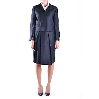 Dries Van Noten svart ull klänning