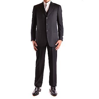 Armani Collezioni Black Wool Suit