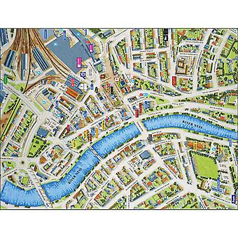Cityscapes Street Map Of Inverness 400 Piece Jigsaw Puzzle 470mm x 320mm (hpy)