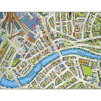 Stadtbilder Stadtplan von Inverness 400 Stück Puzzle 470 x 320 mm (Hpy)