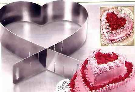 Adjustable Heart Shape Ring Stainless Steel -  Cakes and Pastry - 1 Piece