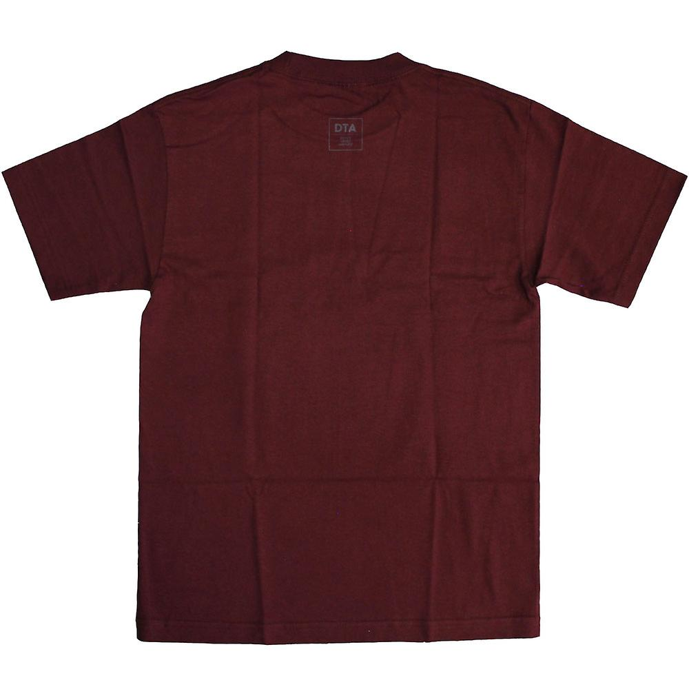 DTA New World Lines T-Shirt Burgundy Grey