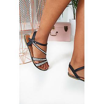 IKRUSH damskie Iris Diamante upiększony sandały strappy