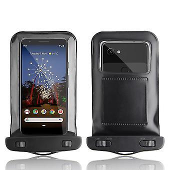 InventCase Waterproof Dustproof Bag Protective Case Cover for Google Pixel 3a / 3a XL 2019 - Black