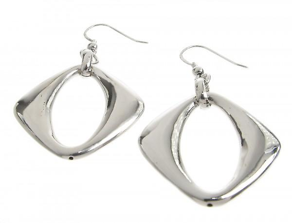 Cavendish French Sterling Silver Diamond Shape Drop Earrings