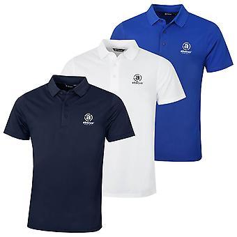 Abacus Mens 2019 Mens Clark Tour Logo Golf Polo Shirt