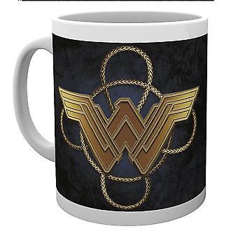 Wonder Woman Gold Logo Mug